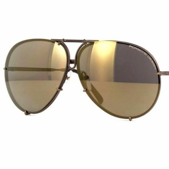 9fbf47c0adb1 NWT Porsche Design 66mm P8478 E Copper Sunglasses